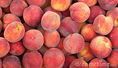 Peach fruits background