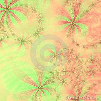 Peach, green and red stars and bows,Abstract Background Design Template or wallpaper