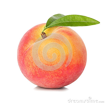Free Peach Isolated On White Royalty Free Stock Photos - 55213398