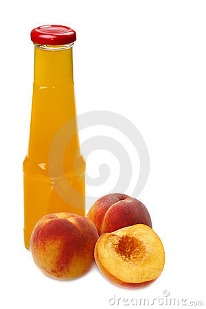 Peach and juice