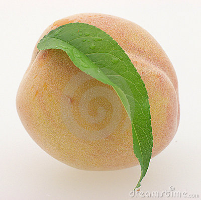 Peach with Leaf