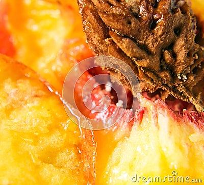 Peach , macro shot