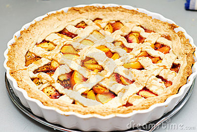 Peach Pie Stock Photos - Image: 21078603