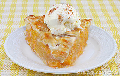 Peach Pie Ala Mode Front View