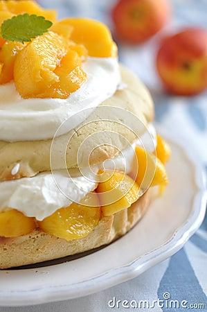 Peach Shortcake Stock Image - Image: 31909171