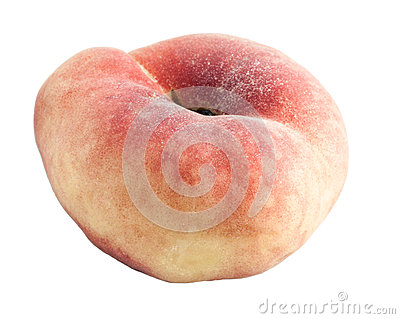 Peach with an unusual shape.