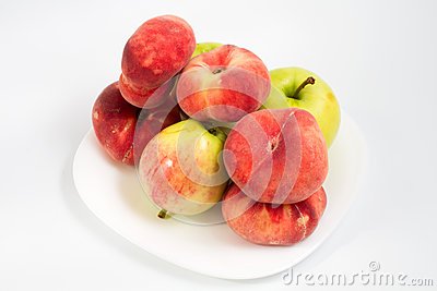 Peaches and apples