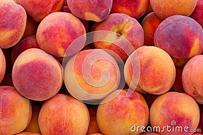 Peaches close up.