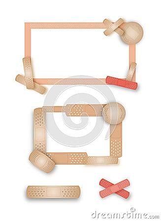 Peachy keen band-aid borders