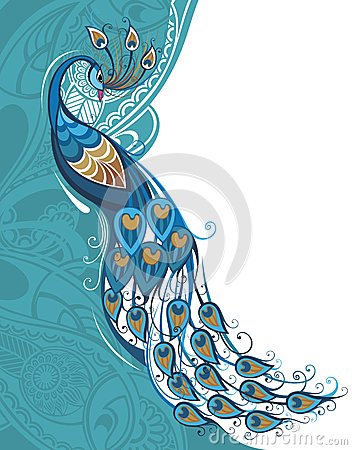 Free Peacock Card Royalty Free Stock Image - 41466726