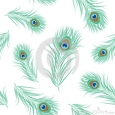 Free Peacock Feather Seamless Pattern Royalty Free Stock Images - 78251799