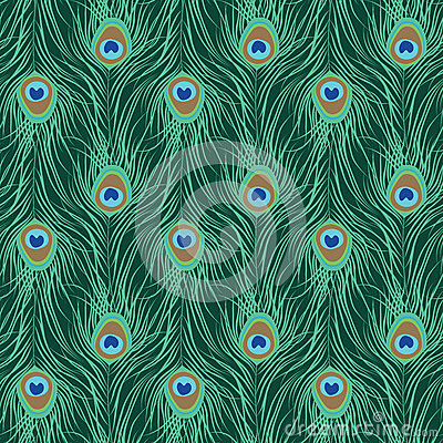 Free Peacock Feather Seamless Pattern Royalty Free Stock Image - 78251956
