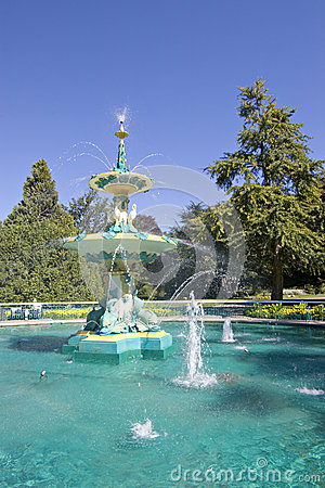 Peacock Fountain, Hagley Park, Christchurch,