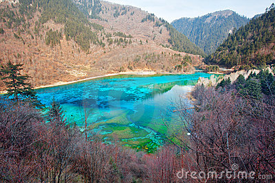 Peacock river in Jiuzhai Valley