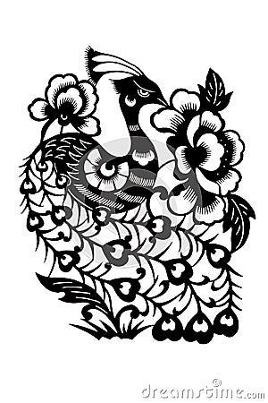 Peacock silhouette