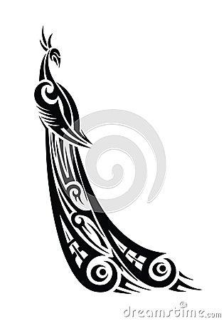 Peacock tribal