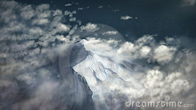 Peak Above The Clouds - Digital Painting
