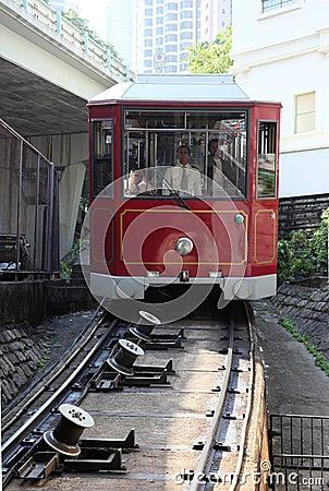 Peak Tramway in Hong Kong Editorial Photography