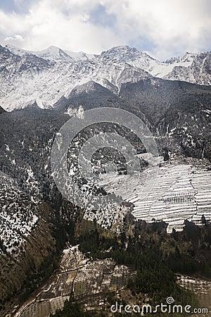Peaks in the Himalaya, Nepal.