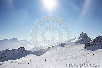 Peaks of mountains