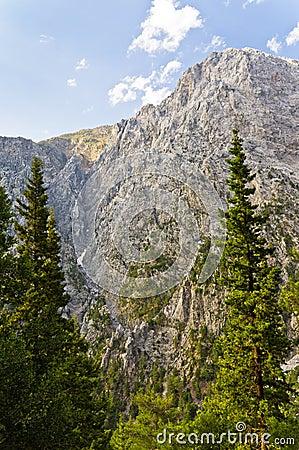 Peaks of Samaria gorge