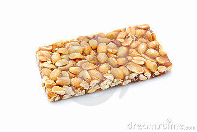 Peanut bar snack