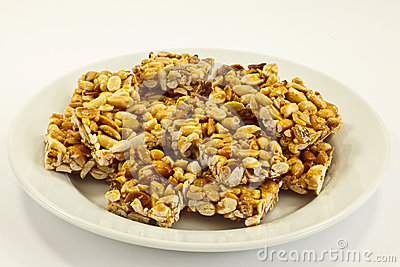 Peanut cookies on plate
