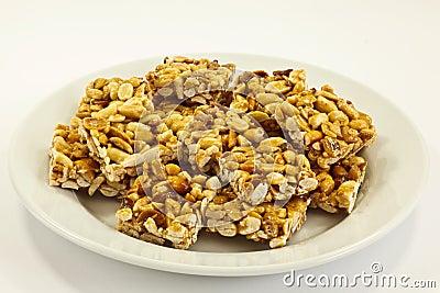 Peanut cookies on plate