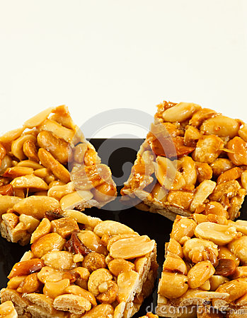 Peanut biscuits on plate