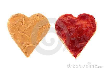 Peanut Butter And Jelly Love Stock Images - Image: 18355144