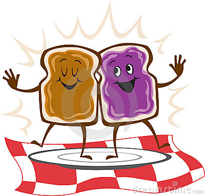 Free Peanut Butter Jelly Sandwich Royalty Free Stock Photo - 11559345