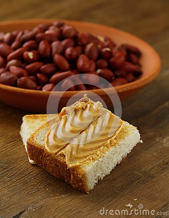 Peanut butter and nuts
