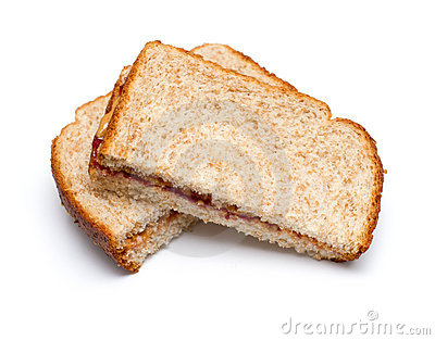 Peanut Butter Sandwich Stock Photo - Image: 19697100