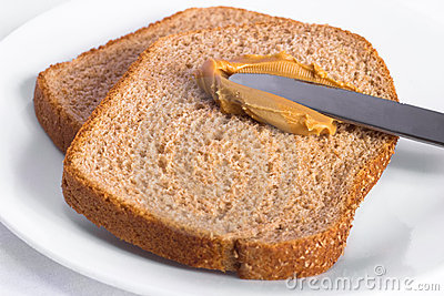 Peanut Butter on Whole Wheat Bread