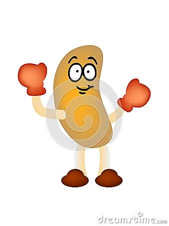 Peanut man mascot vector