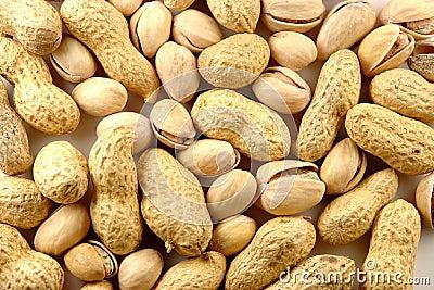 Peanut and pistachio background