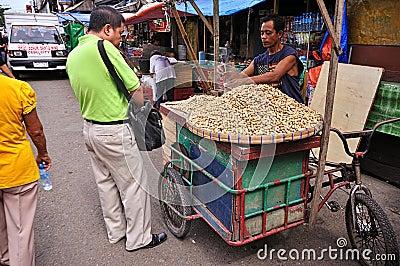 peanut vendor cebu city philippines editorial stock. Black Bedroom Furniture Sets. Home Design Ideas