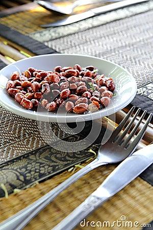 Peanuts on Dining Table