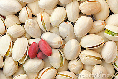 Peanuts and pistachios