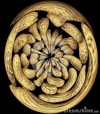 Free Peanuts Swirl Stock Images - 9081044