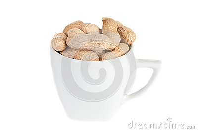 Peanuts in a white cup