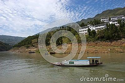 Peapod Water Taxi Boat Yangtze River, China Travel