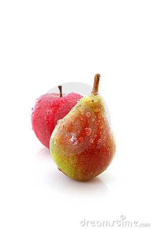 Pear and apple