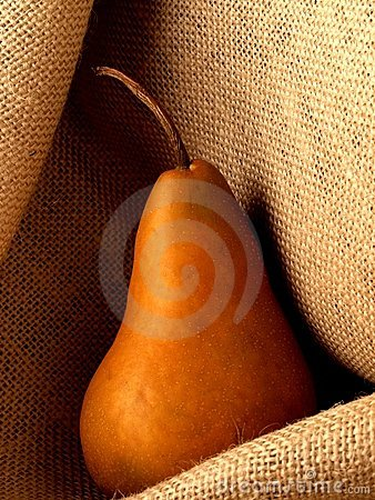 Pear on Burlap