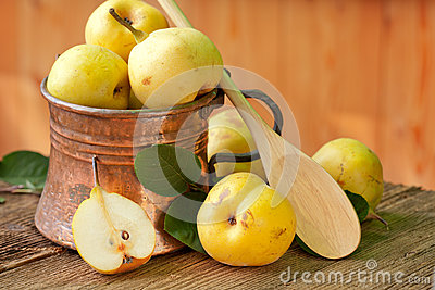 Pear in Copper Jug