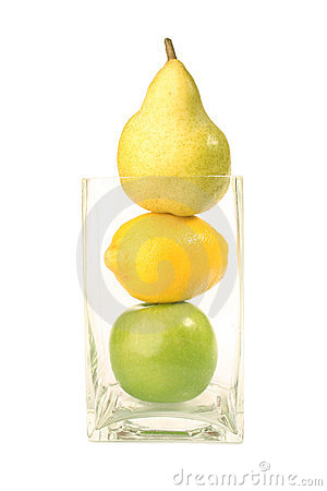 Pear, Lemon, Apple isolated
