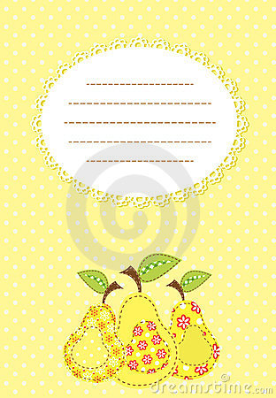 Pear patchwork background