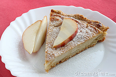 Pear pie with pear