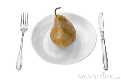 Pear on Plate
