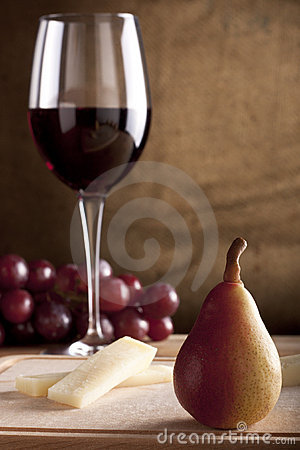 Pear with Wine and Cheese